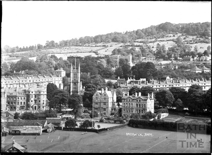 View of Bathwick from Beechen Cliff, c.1950