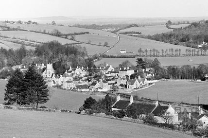 View of the village of Freshford from the south c.1938 - detail