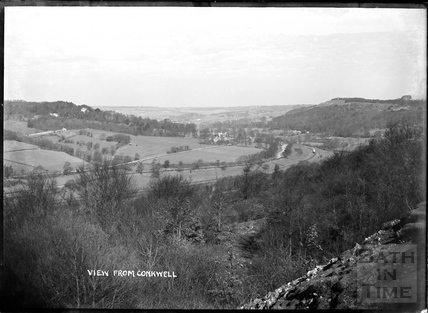 View from Conkwell towards Claverton c.1910