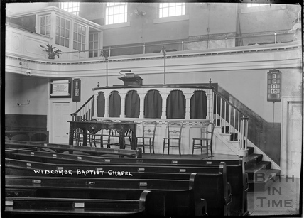 Inside Widcombe Baptist Church c.1920s