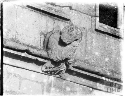 Unidentified carved stone object, Widcombe Manor or church? c.1910