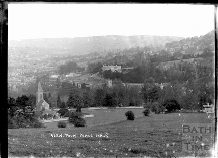 View from Pope's Walk towards Crowe Hall, Widcombe c.1910