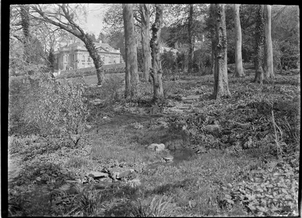 View of Widcombe Manor from the wooded grounds c.1927
