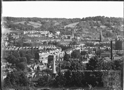 View from Camden Crescent No. 4, Bath, 21 June 1936