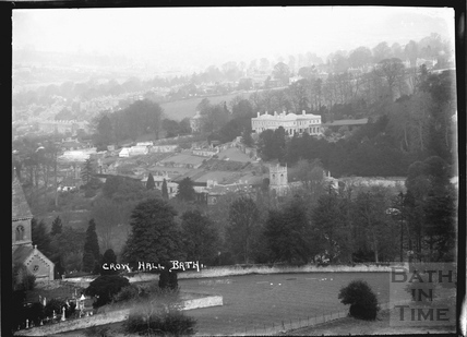 View from Abbey Cemetery to Crowe Hall, Widcombe c.1910