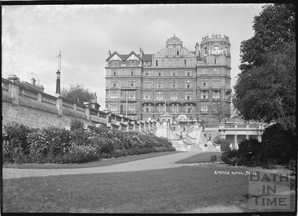 The Empire Hotel from Parade Gardens, 1934