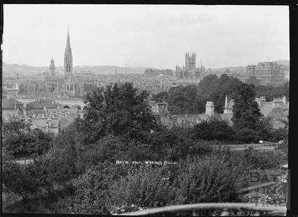 View of Bath from Sydney Buildings, pre 1937