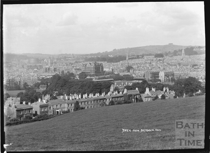 View of Bath from Bathwick Hill, pre 1937