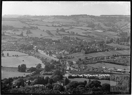 View from Bathford Tower of Batheaston, c.1920s