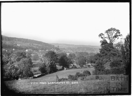 View from the Warminster Road at Bathampton towards Batheaston c.1908