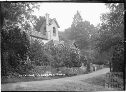 The Lodge and gates, Claverton manor, c.1908