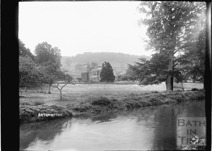 Large House on Bathampton Lane viewed from the Kennet and Avon Canal c.1934