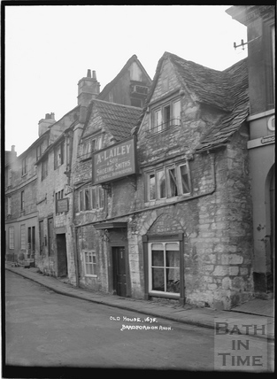 Old House, dated 1675, Bridge Street Bradford on Avon c.1920s