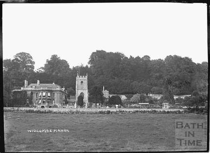 Widcombe Manor gardens and church, c.1922