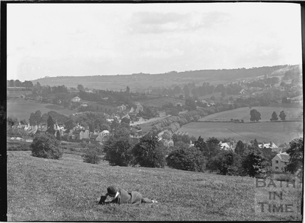 View of Batheaston from the Cliffs c.1910