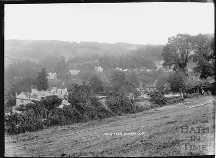 View from Beechen Cliff, looking south east over Perrymead and Lyncombe c.1910