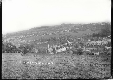 View of Widcombe from Beechen Cliff, Bath c.1920