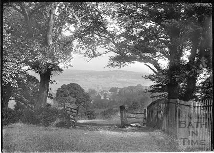 Gate to view from Monument Fields, c.1920s
