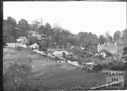 Lyncombe Vale with Greenway Lane at the top of the slope c.1920s