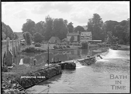 Bathampton Weirs, Toll bridge and Tea Rooms c.1920s
