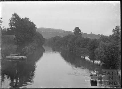 Boating on the River Avon, Bathampton c.1920s