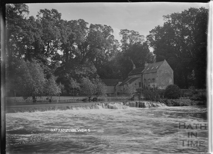 Bathampton Weirs and Mill c.1910