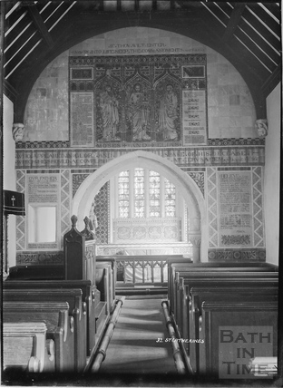 Inside the church of St Catherines No.32 c.1920