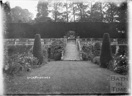 Steps to terrace, St Catherines Court c.1910