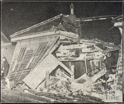 The scene of the Bath Railway Disaster, 20 November 1929