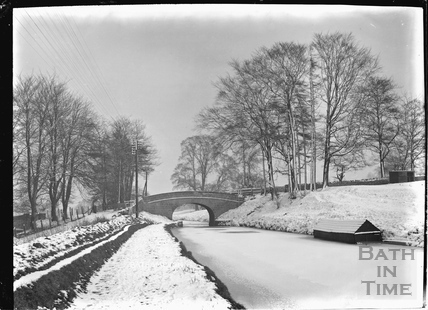 The accommodation bridge at Bathampton in winter c.1920