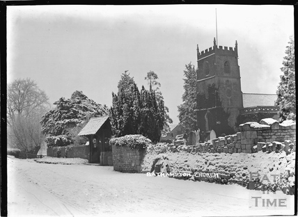 Bathampton Church in winter c.1920s