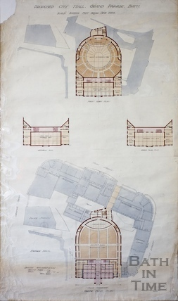 Proposed City Hall, Grand Parade, Bath 1938