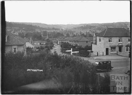 Junction of Down Lane and the Warminster Road, Bathampton, c.1932