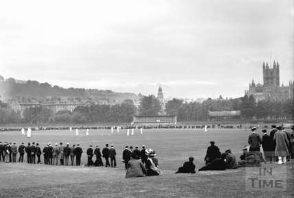 Cricket on the County Ground c.1910 - detail
