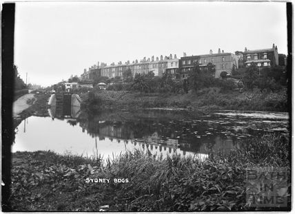 View of Sydney Buildings looking over the Kennet and Avon Canal, Bath c.1920