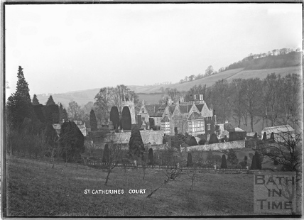 View of St Catherines Court and garden,1922