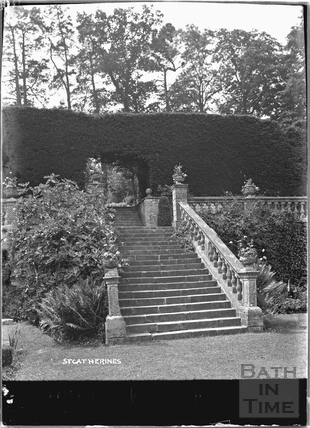 Garden steps at St Catherines Court 1922