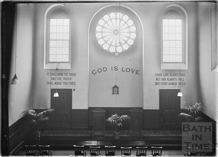 Inside the Church of Christ Scientist, Charlotte Street c.1920s