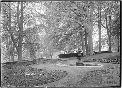 Gardens, fountain and woodland at Shockerwick House c.1920s