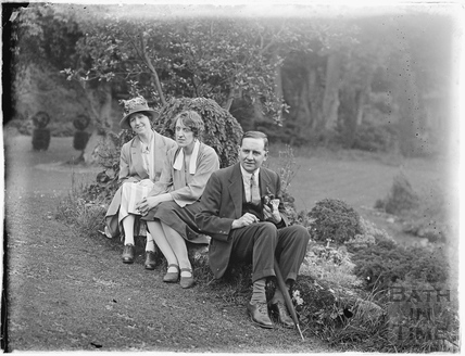 Mr and Mrs Paisey at Iford Manor 1926