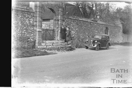 Gateway at Cold Ashton Manor c.1950s