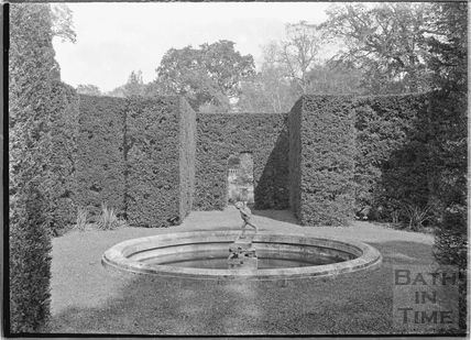 The gardens at Rode Manor c.1935