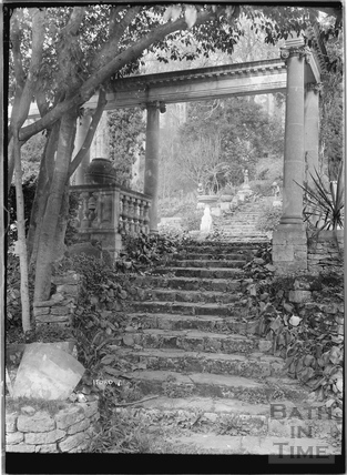 Steps in the gardens at Iford Manor No.7 c.1920s