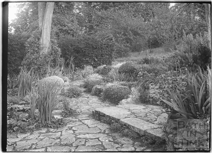 Unidentified garden at Farleigh Hungerford c.1920s