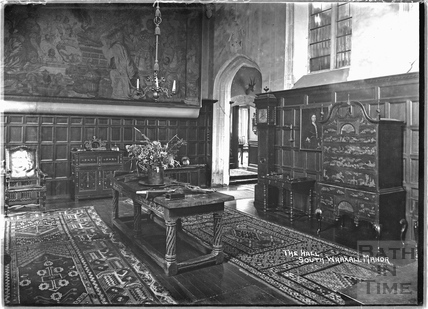 The hall at South Wraxall Manor 1935
