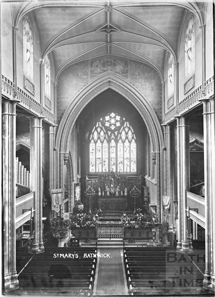 Inside St Mary's Church, Bathwick c.1912