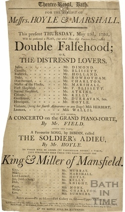 Theatre Royal Playbill, Double Falsehoods Thursday May 23rd, 1793