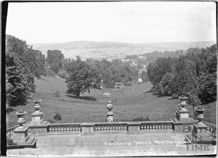 Prior Park College, view from the terrace, c.1920s
