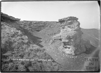 The Devil's Table and Cave, Bathampton Down c.1920