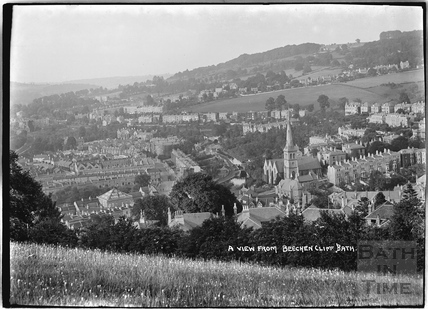 View of Bathwick and Widcombe from Beechen Cliff c.1920s